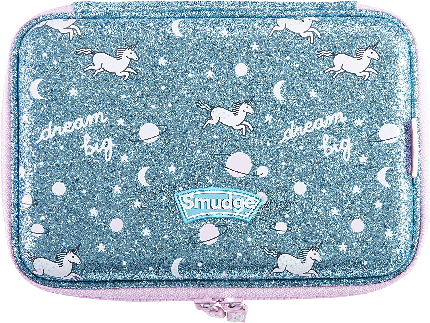 Smudge Stationery Unicorn Hardtop Pencil Case - Estuches con purpurina para niñas - Papelería escolar para niños