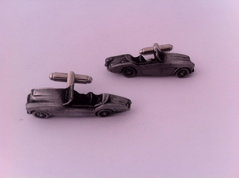 3D Manschettenkn/öpfe Classic Car Zinn Effekt Manschettenkn/öpfe ref23 Austin Healey 100//4/ Uni Motorhaube