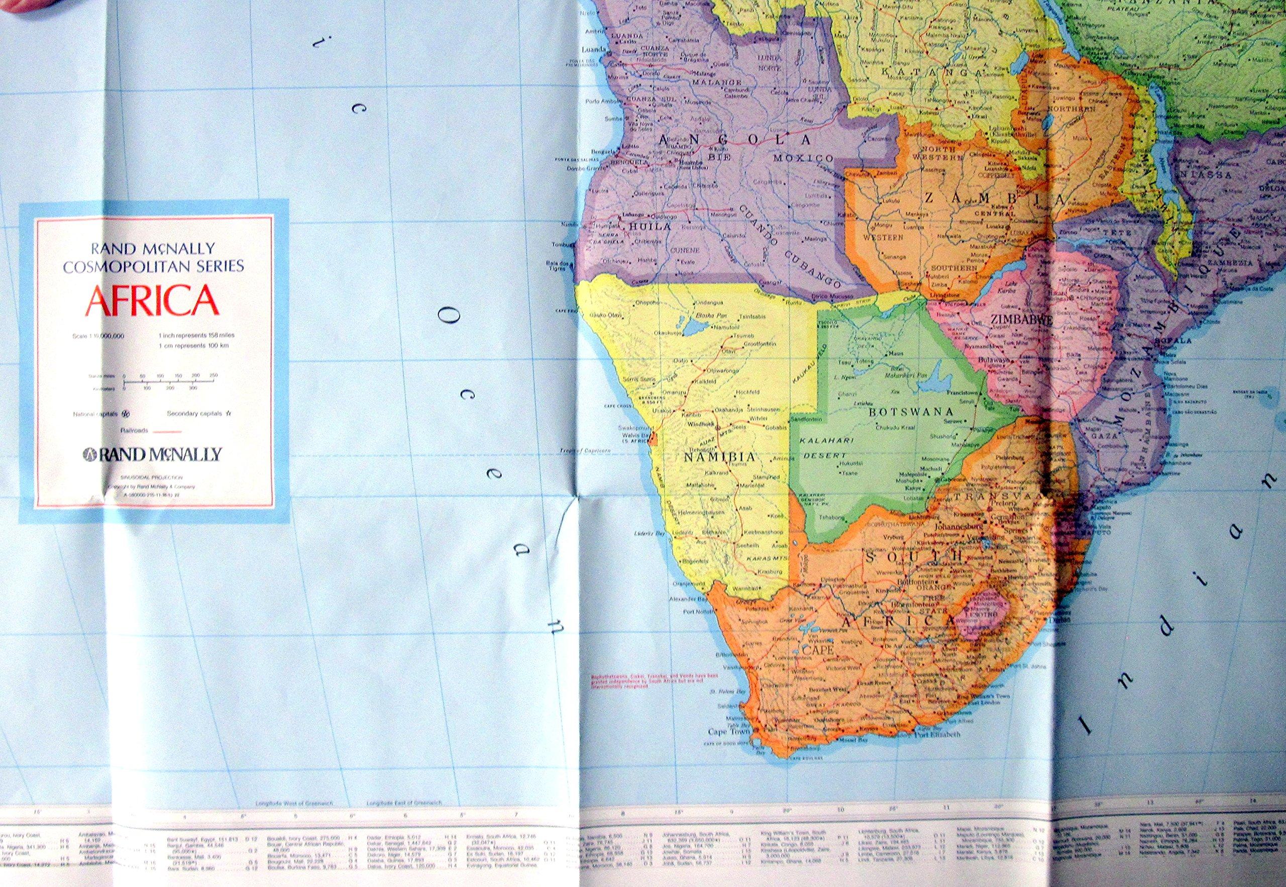 Rand McNally Hallwag Africa: Road Map (Continent Maps): Rand