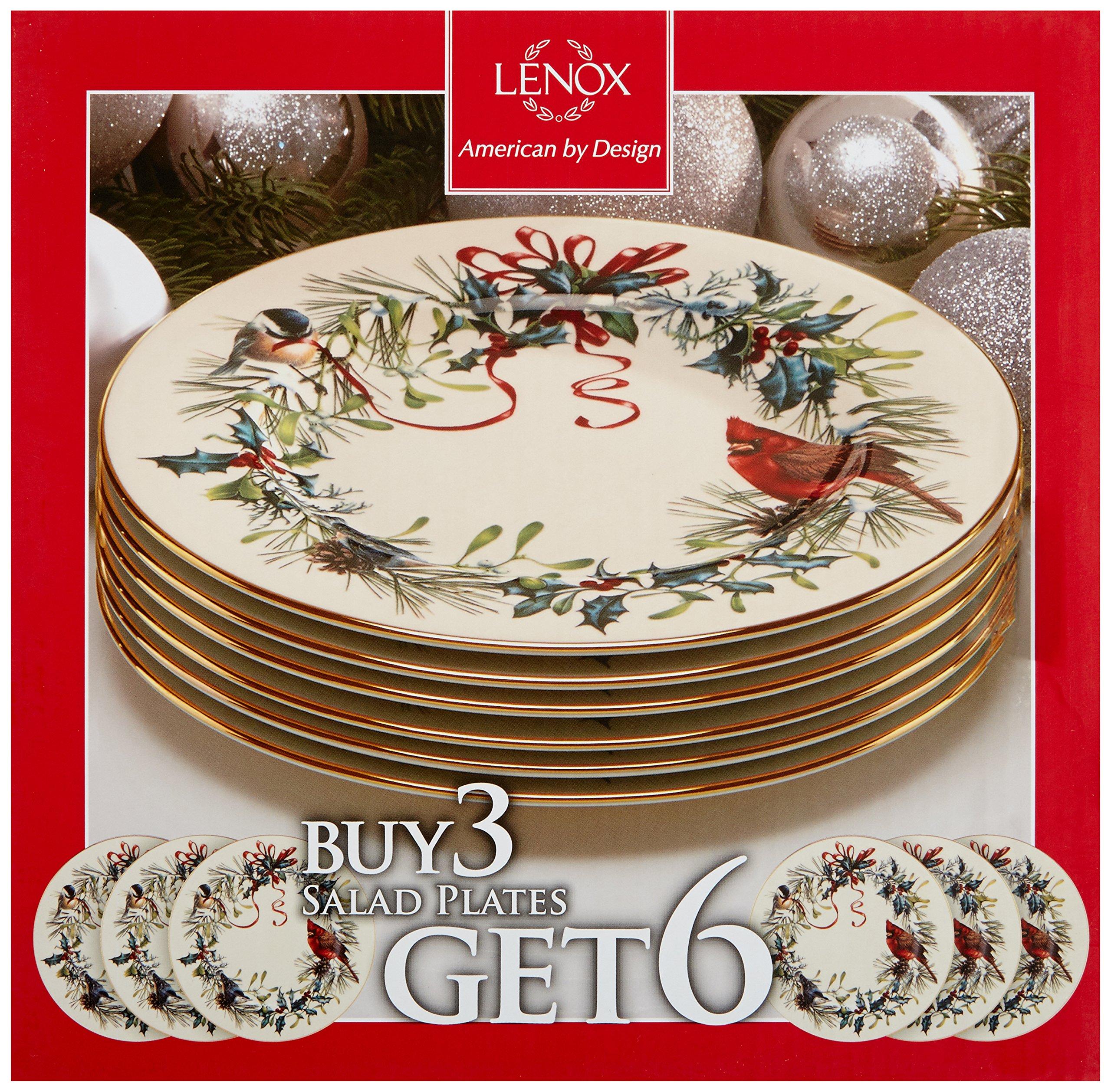 Lenox Winter Greetings Set of 6 Salad Plates,Ivory by Lenox (Image #2)