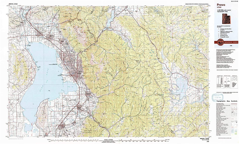 Amazon Com Yellowmaps Provo Ut Topo Map 1 100000 Scale 30 X 60
