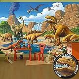 Fototapete kinderzimmer baustelle  Fototapete Kinderzimmer comic style - Wandbild Dekoration ...