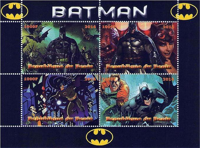 Collezione Marvel Spiderman francobolli in foglio di 4 rilasciato nel 2014 Benin Repubblica//Mint e smontato