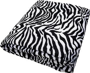 daydream K-9001 hochwertige Kuscheldecke im Zebra-Design aus Kunstfell, 150 x 200 cm