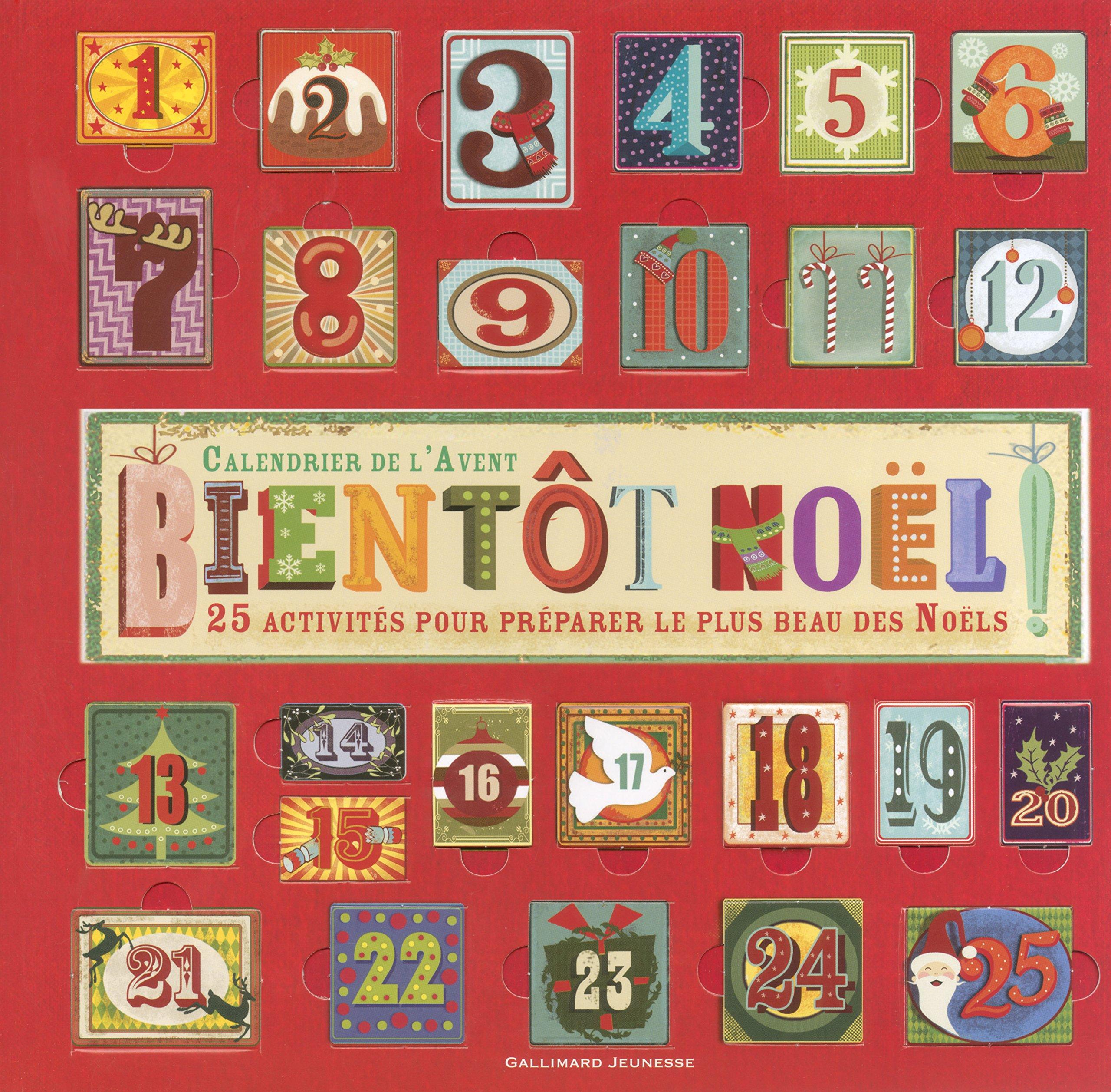 Calendrier D Avent.Amazon Fr Bientot Noel Calendrier De L Avent Gina