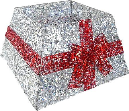 Christmas Concepts® Falda de Base de árbol de Navidad con Cinta y ...