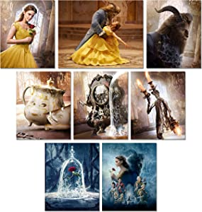Beauty and The Beast Movie Prints - Set of 8 New (8 inches x 10 inches) Photos