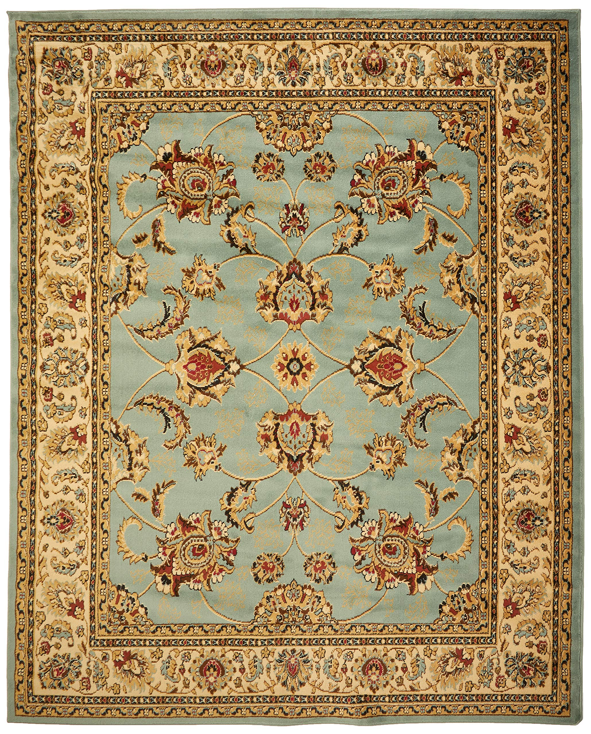 Sweet Home Stores King Collection Mahal Oriental Design Area Rug, 7'10''x9'10'', Seafoam