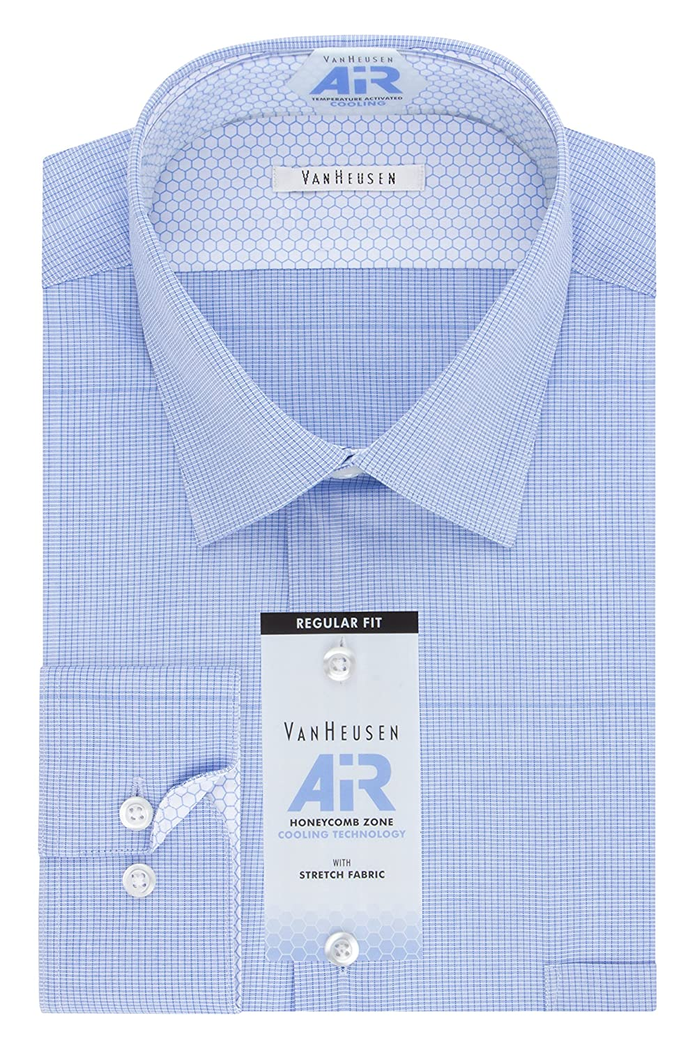 84ab3bf1547251 Van Heusen Mens Air Regular Fit Micro Check Spread Collar Dress Shirt Dress  Shirt: Amazon.ca: Clothing & Accessories