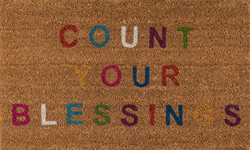 Novogratz Aloha Collection Count Your Blessings Doormat, Multi, 1 6 x 2 6 , Multicolor