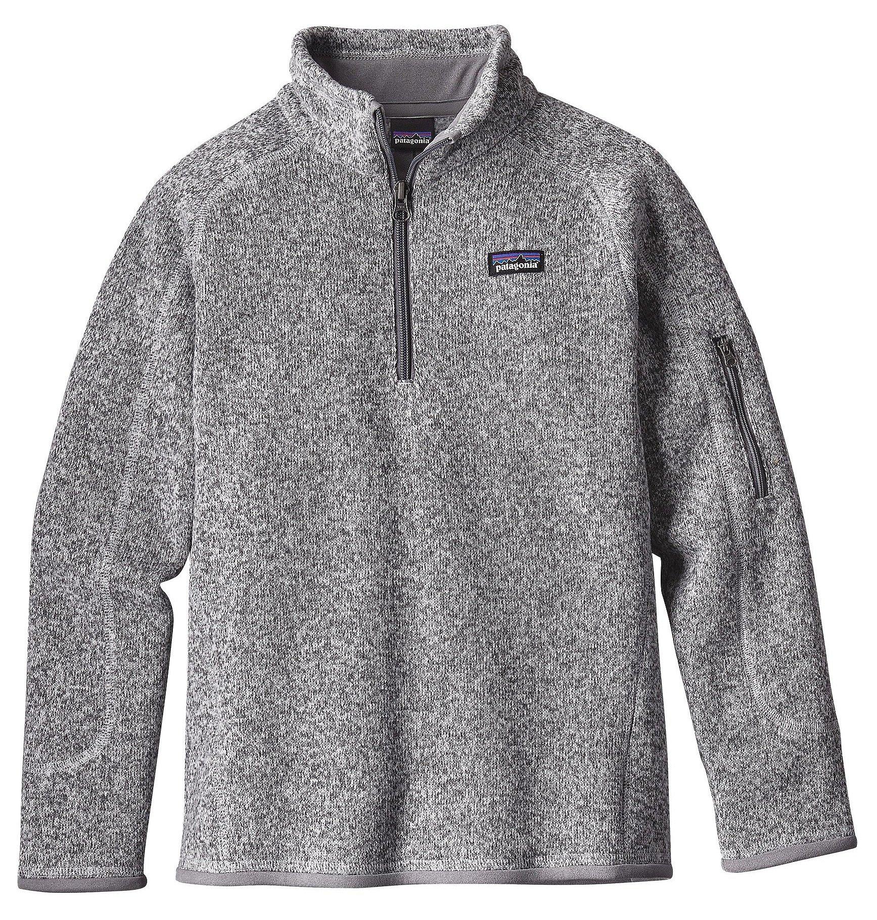 Patagonia Girls' Better Sweater Fleece Quarter Zip (S, Birch White)