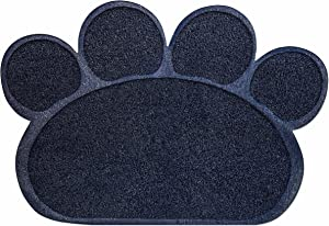 #1 All Systems Paw Print Litter Trapper Mat Scatter Control Soft & Gentle 23.5