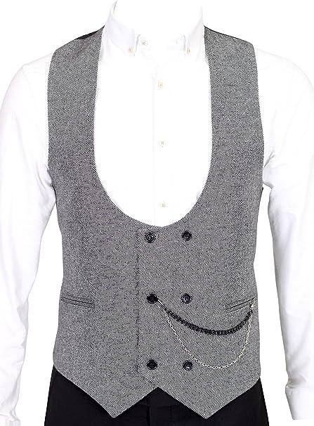 Grey Tweed Double Breasted Waistcoat Jack Martin