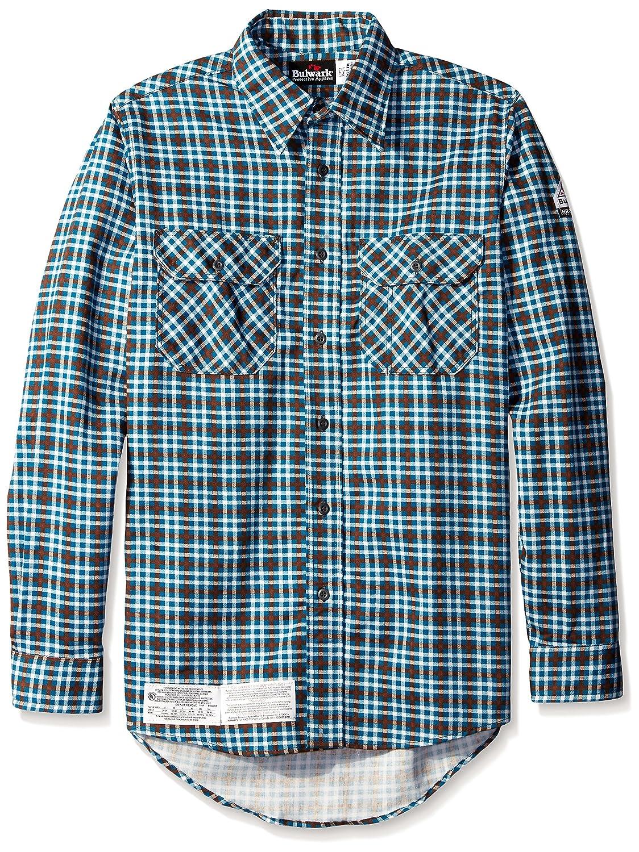 BulwarkメンズBig and Tall Plaid Uniformシャツ B01C56778Y XX-Large / Tall|ティール ティール XX-Large / Tall