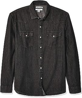 f18a1edcc68 Levi's Men's Standard Barstow Denim Western Snap-Up Shirt at Amazon ...