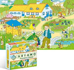 Arfamo Puzzles for Adults 1000 Piece Jigsaw Puzzles Challenging 1000 Piece Puzzle Educational Family Game DIY Mural Toys Gift for Adults Kids Teens Jigsaw Puzzles (Vegetable Garden)