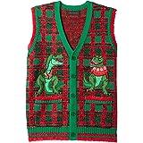 N4699V Men/'s It/'s Christmas Slogan Crew Neck Vest