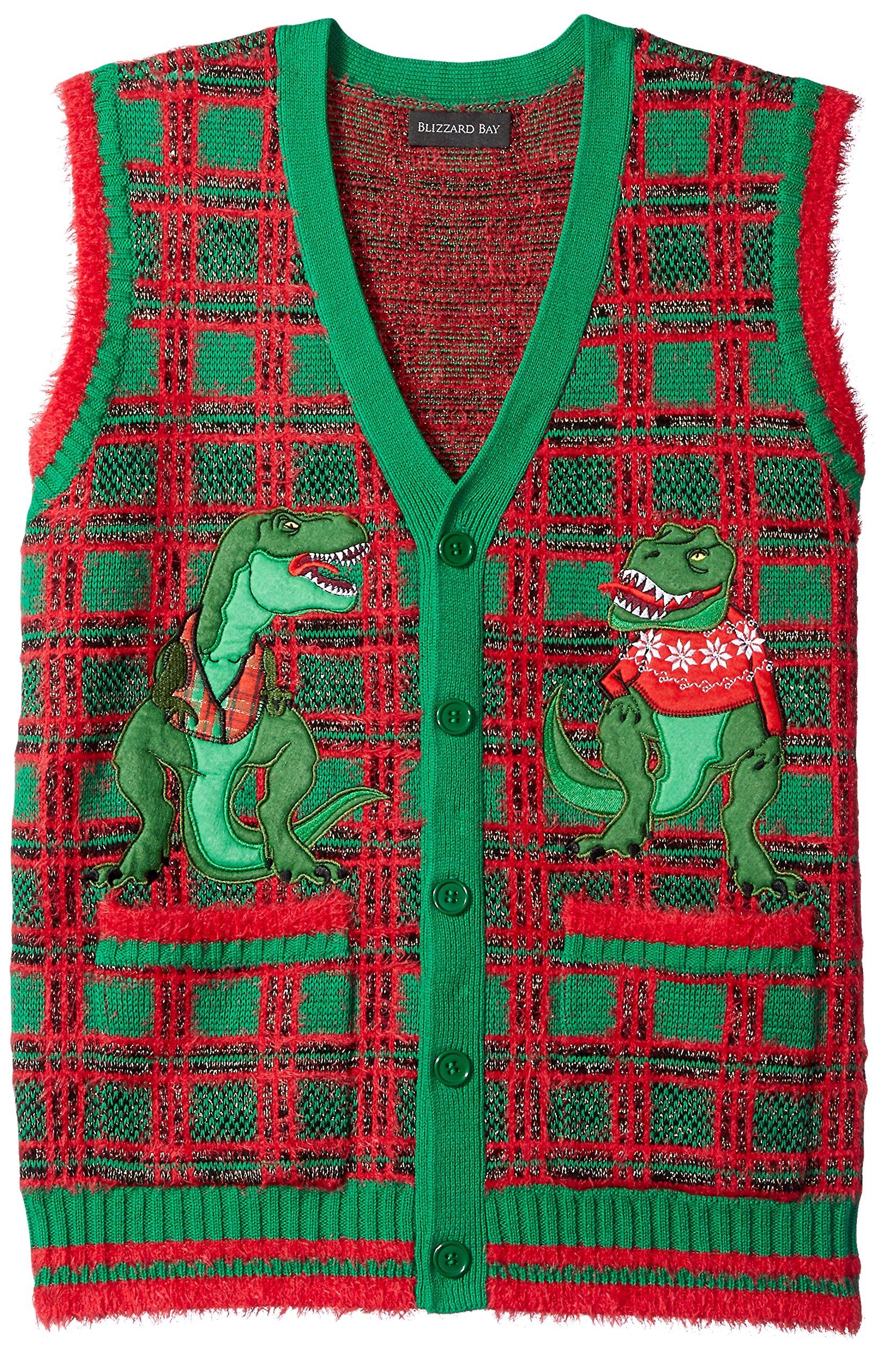 Blizzard Bay Men's Ugly Christmas Sweater Vest, Dark Green, Large by Blizzard Bay