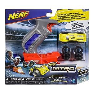 Nerf Nitro Throttle Shot Blitz, Gray Blasters & Toy Guns at amazon