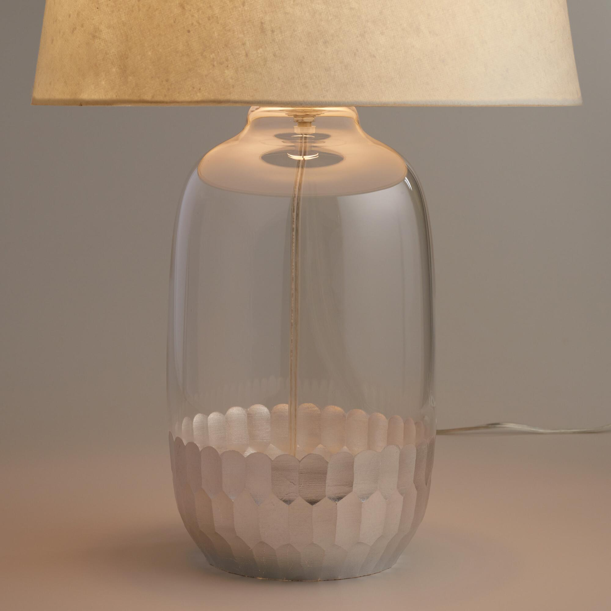 Silver Glass Evelyn Table Lamp Base | World Market