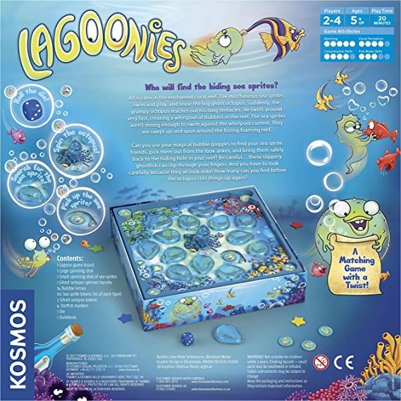 amazon com thames kosmos lagoonies the undersea search game rh amazon com