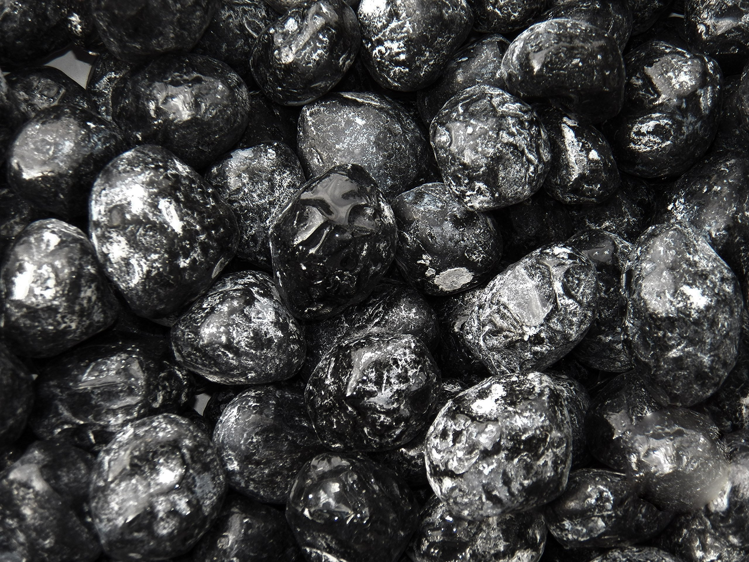 Fundamental Rockhound Products: Natural Extra Large APACHE TEARS Volcanic Glass Black Obsidian Bulk Rock for Tumbling Metaphysical Gemstones Healing Crystals Wholesale Lot ... Clear Negativity, Protect from Negative Energies (1 lb)