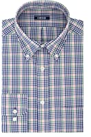 IZOD Men's Regular Fit Stretch Plaid Buttondown Collar Dress Shirt