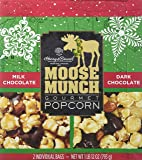 Harry & David Moose Munch Popcorn Milk Chocolate / Dark Chocolate Net wt 1 lb 12 oz