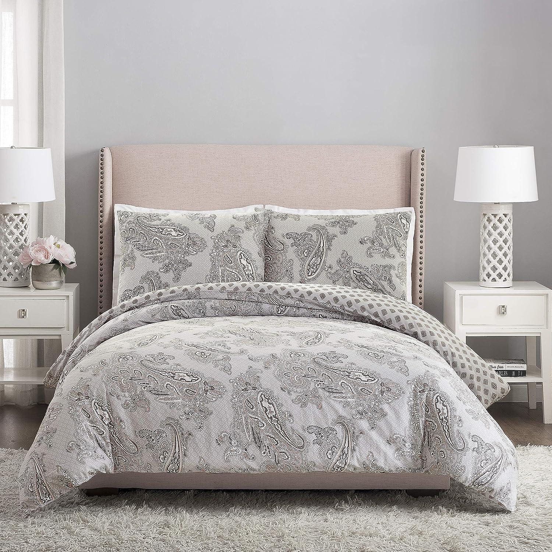 Vera Bradley Paisley Night Comforter Set, King, Gray