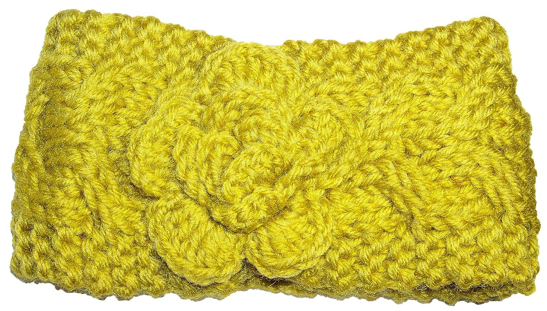 Best Winter Hats Baby Cable Knit Headband//Ear Warmer W//Flower One Size