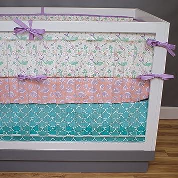 and com teal cdlanow navy gray cribs crib coral bedding