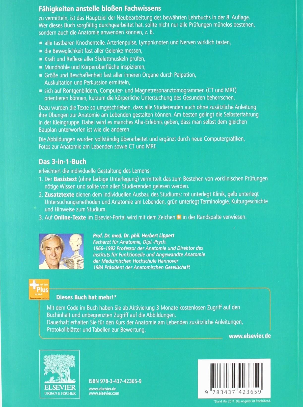 Lehrbuch Anatomie: mit Zugang zum Elsevier-Portal: Amazon.de ...