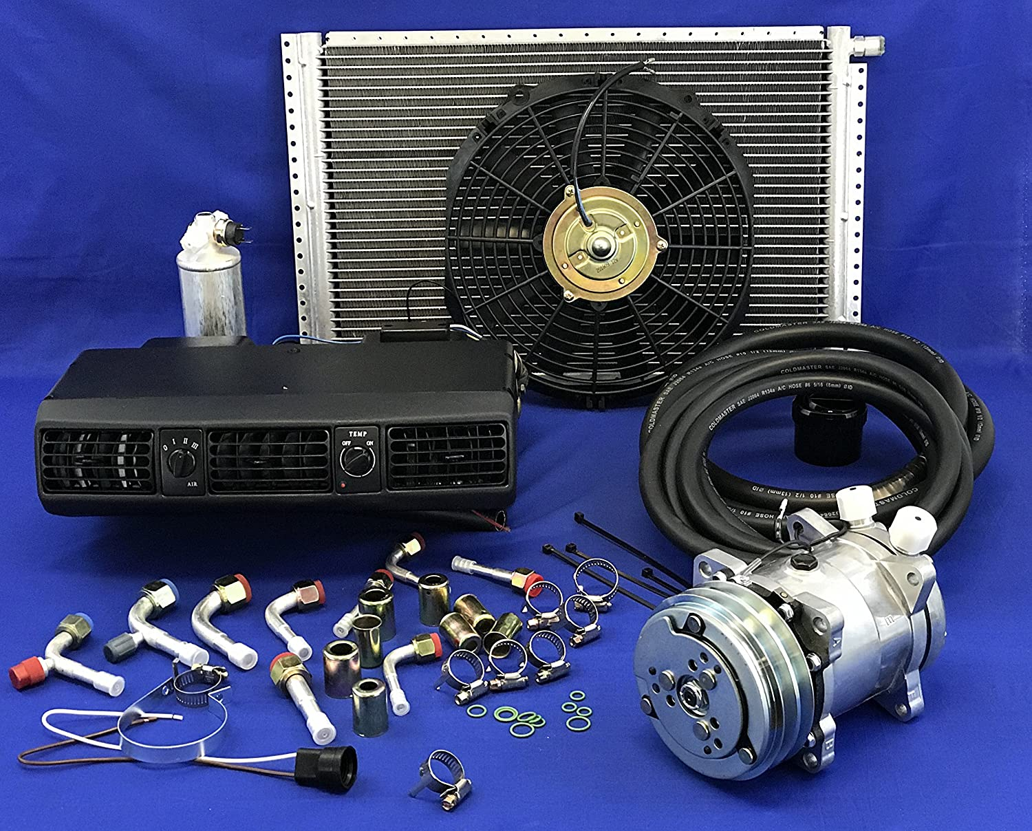 A/C KIT Universal Under Dash Evaporator Compressor KIT AIR Conditioner 202-1 W/Electrical Harness