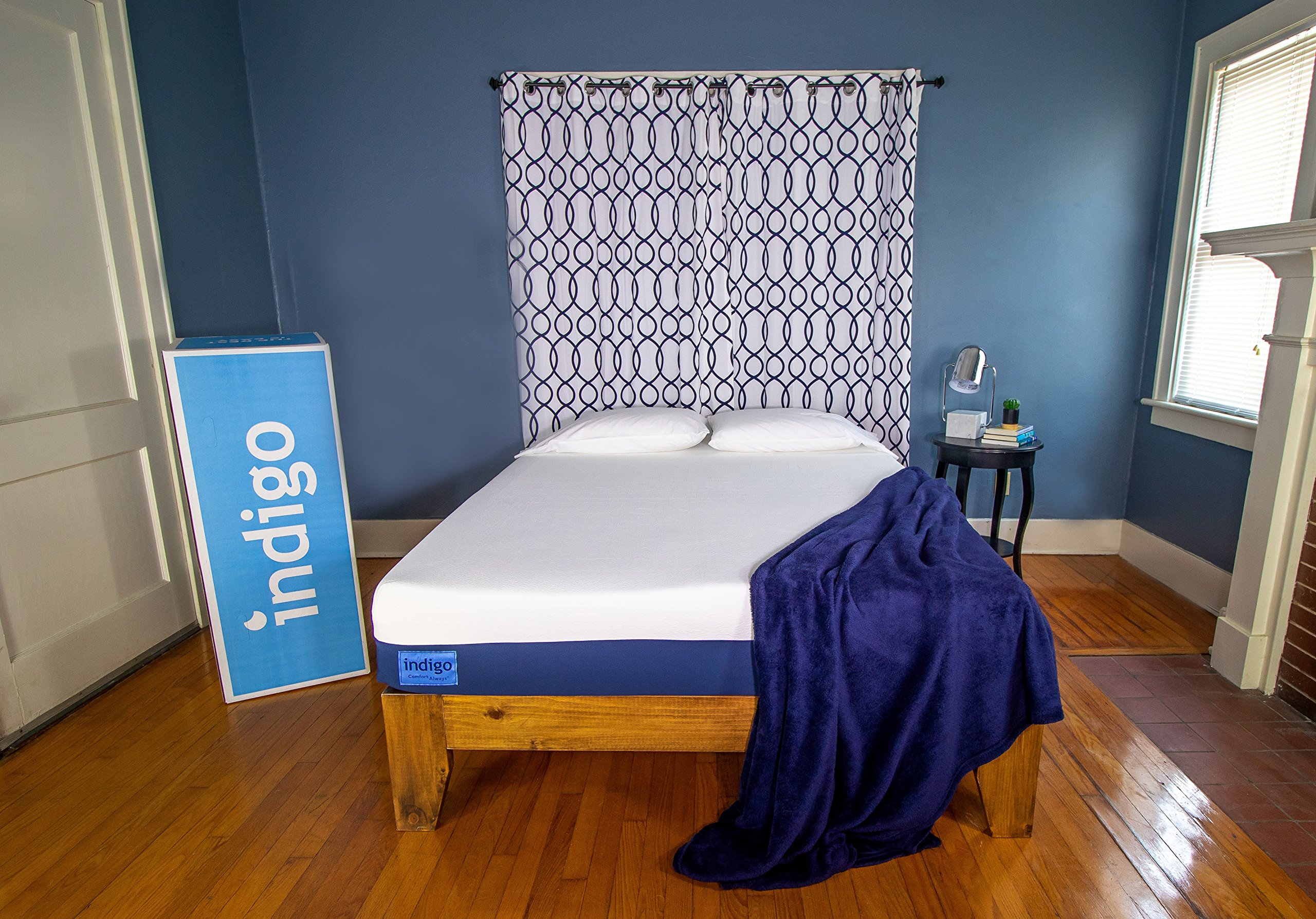 Indigo Sleep Classic Queen Mattress |Supportive Cool Gel Memory Foam |Great Sleep for Couples |Two Comfort Choices |CertiPUR-US|Non-Toxic |Patented |Clean & Safe|100 Night Trial