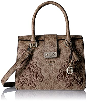 GUESS Arianna Small Satchel, Brown: Handbags: Amazon.com