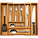 Top Rated Bellemain 100% Pure Bamboo Expandable, Utensil - Cutlery and Utility Drawer Organizer-2 Year Warranty
