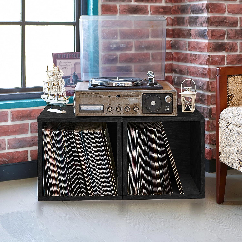 record cube espresso eco lifetime home garden shelf free overstock storage shipping album guarantee today vinyl lp product