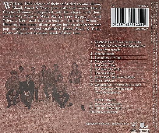 Blood Sweat And Tears.: Blood Sweat And Tears: Amazon.es: Música