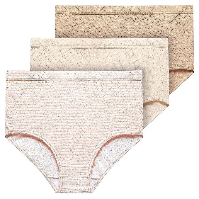 c7cf82275a13 Jockey® Elance Breathe Brief - 3 Pack, Sheer Nude/Whisper Stripe/Light,  2XL: Amazon.co.uk: Clothing