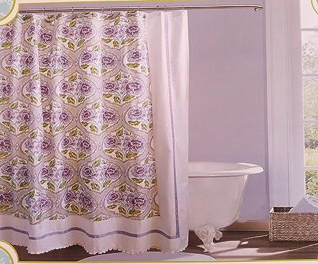 Dena Home French Lavender Shower Curtain Multi Color 72u0026quot; ...