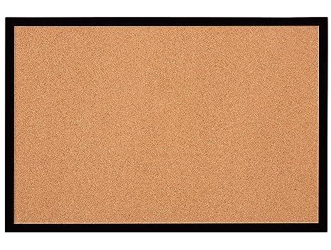 quartet bulletin board cork board 2 x 3 black frame