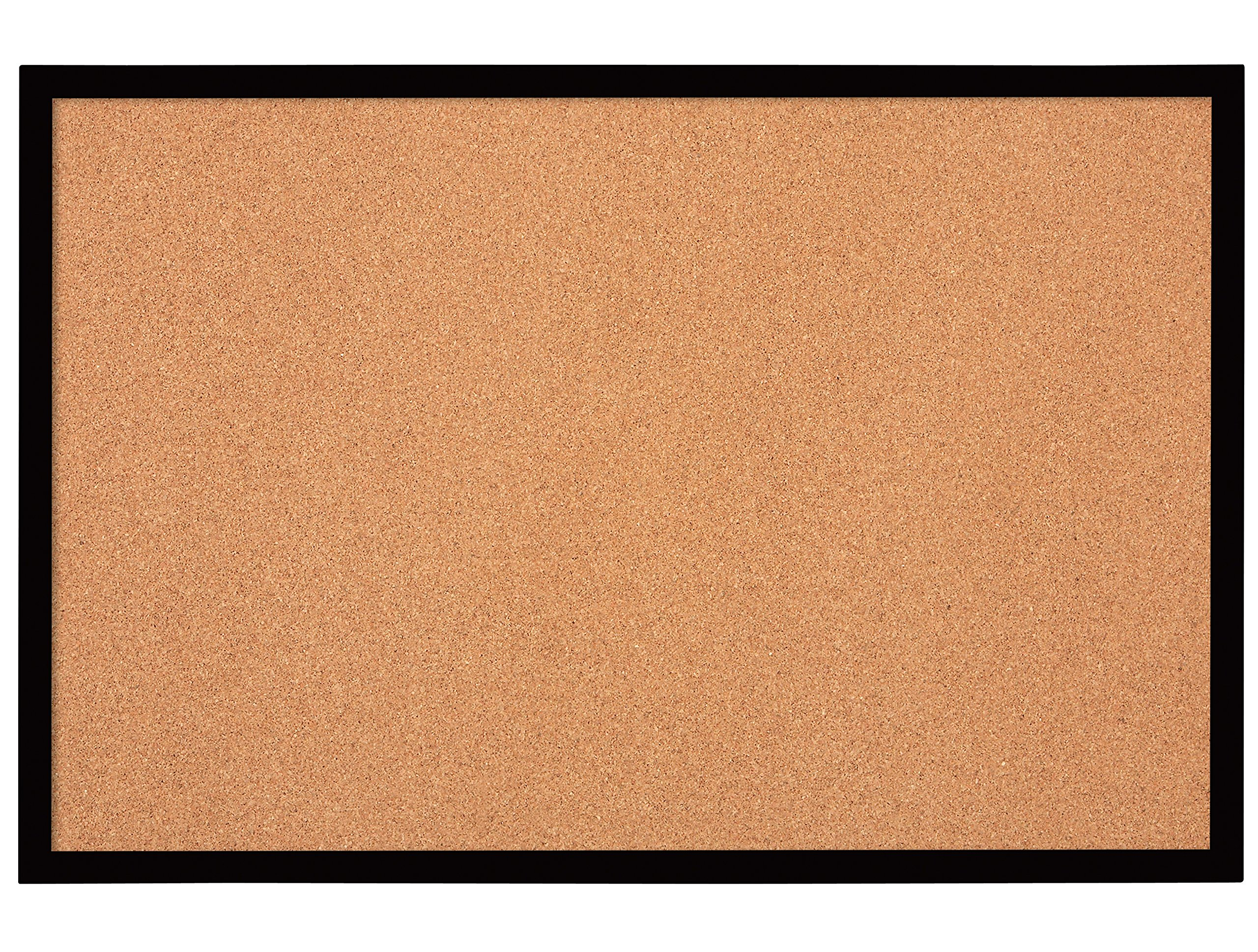 Quartet Bulletin Board, Cork Board, 2' x 3', Black Frame (MWDB2436-BK)