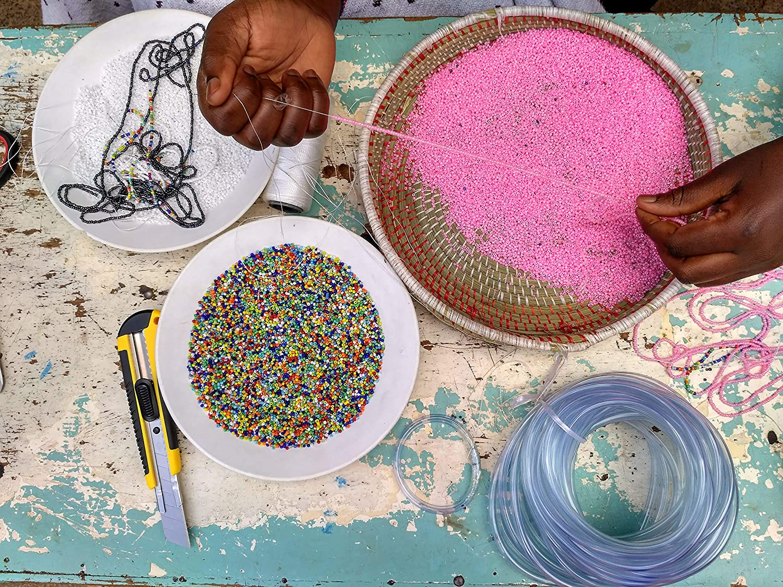 Blue Small//Medium African Bracelet Handmade in Kenya KB34 Kenya Maasai Jewelry Maasai Bangles