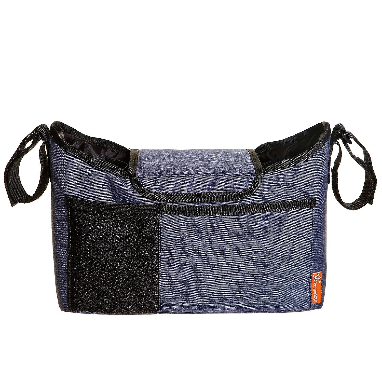 Dreambaby Strollerbuddy On-The-Go Stroller/Pram Bag, Blue Denim Tee-Zed F2256