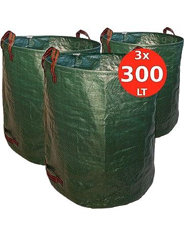 5x giardino fogliame sacco 90 LITRI PIEGHEVOLE POP UP PRATO SACCO FOGLIE SACCO Sacco dei rifiuti