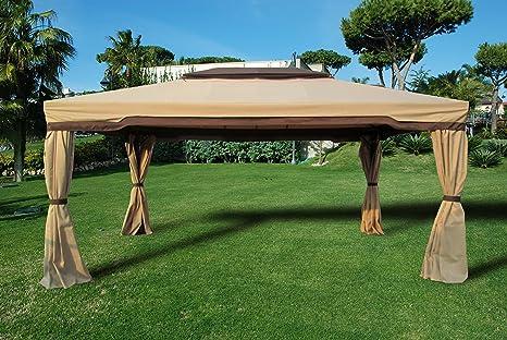 Sal mar - Lona para cenador - Modelo Cipro - Medidas 3,6 x 4,8 metros - Color crudo (solo para el techo)