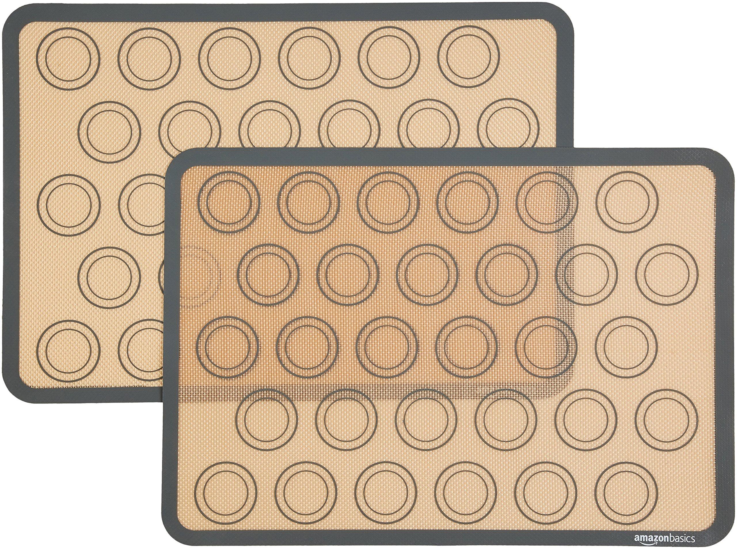 AmazonBasics Silicone Macaron Baking Mat - 2-Pack by AmazonBasics