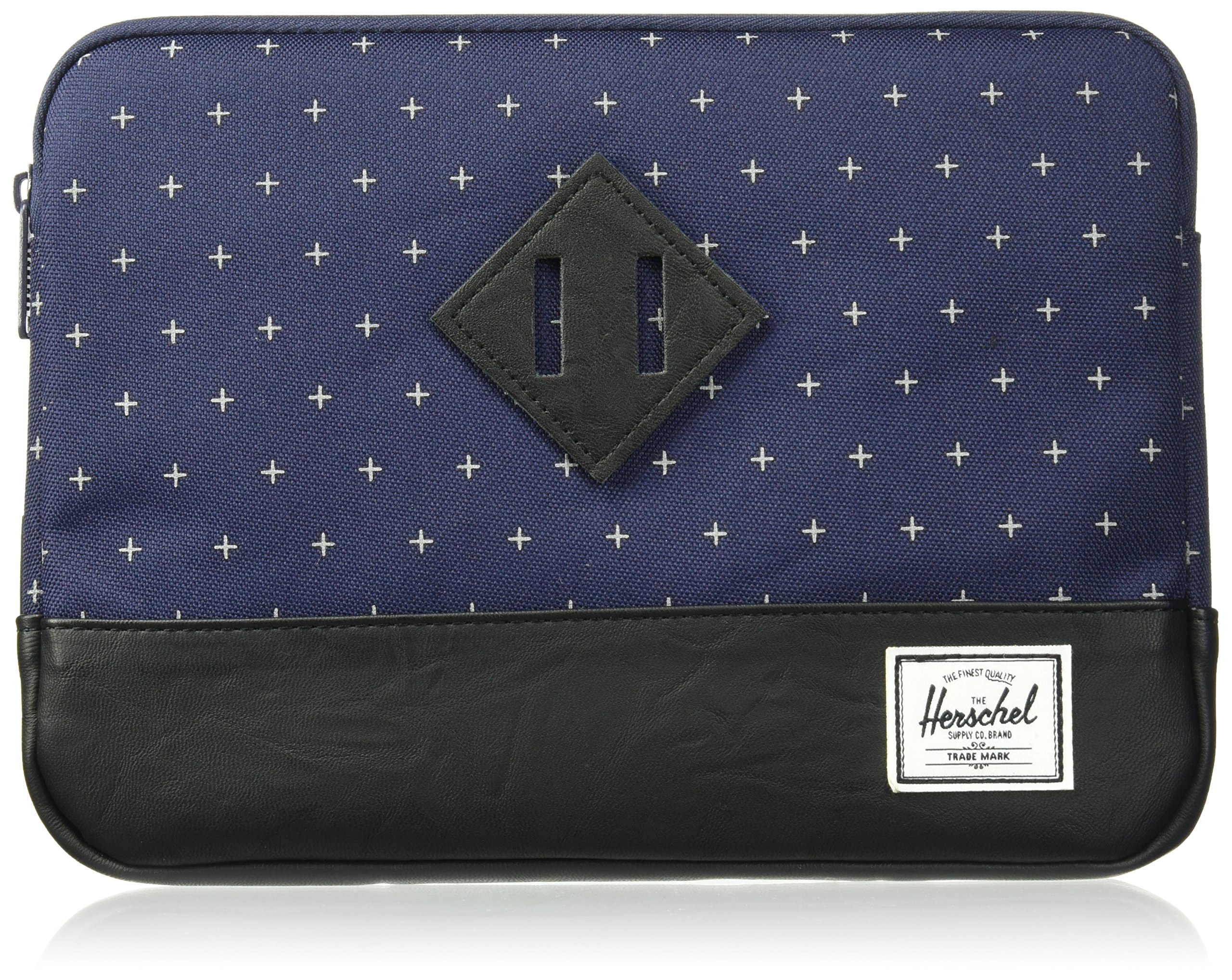Herschel Supply Co. Men's Heritage Sleeve Ipad Air, Peacoat Gridlock/Black Synthetic Leather, One Size