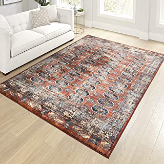"product image for Orian Meadow Borachio Area Rug, 5'3"" x 7'6"", Red"