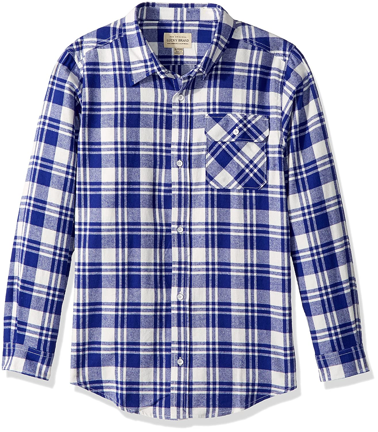 Lucky Brand Baby Boys Long Sleeve Plaid Button Down Shirt